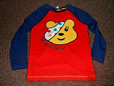CHILDREN IN NEED cute pudsey bear top 18-24 months
