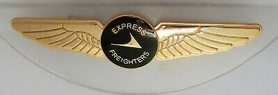 Qantas Express Freighters 90mm Pilot Wing enamel badge with b/plate