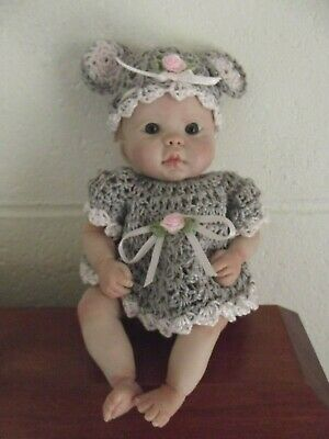 Adorable Ooak Polymer Clay Baby Doll With Bonus Extra Clothing!