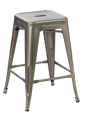 BTEXPERT 24-inch Industrial Tabouret Vintage Antique Rustic Style Distressed Bar