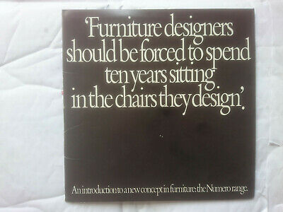 Brochure promoting the Grant & Mary Featherston, Numero chairs. 4, 7, 9 & Obo.