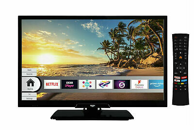 Bush ELED22FHDS 22 Inch Full HD 1080p Freeview Play Smart WiFi LED TV - Black.