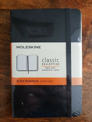 Moleskine Classic Collection Ruled Notebook | Black Hard Cover | Pocket Size