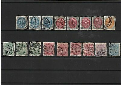 denmark used  stamps   ref 7989