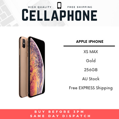 Apple Iphone Xs Max 256Gb Gold Au Stock Gst+Tax Invoice, Next Day Delivery
