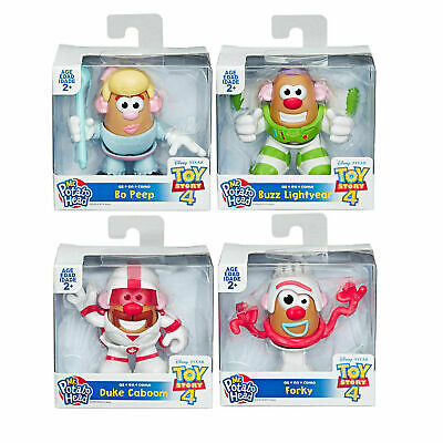 Disney Pixar Toy Story 4 Mini Mr Potato Head Figure - Bo, Duke, Buzz or Forky