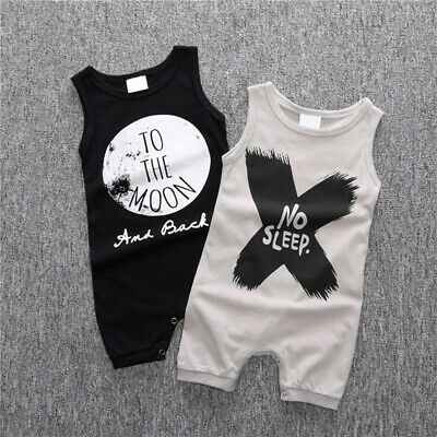 Kids Baby Boys Girls Romper Jumpsuit Bodysuit Tracksuit Casual Clothes Outfit