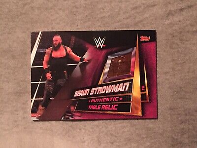 WWE Slam Attax Universe Table Relic Card Braun Strowman Topps Very Rare