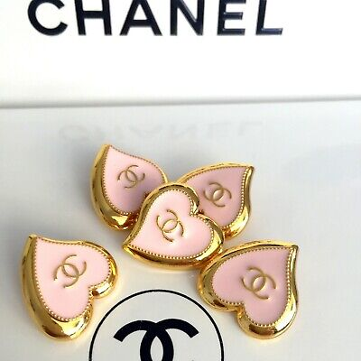 CHANEL CC LOGO SET Lot of 5 vintage Button Boutons Button Buttons Stamp Ø22 mm