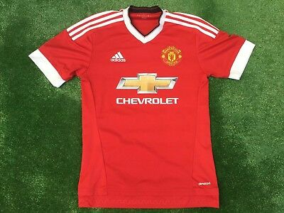 Manchester United 2015 Adidas Home Football Shirt Size Small Adult