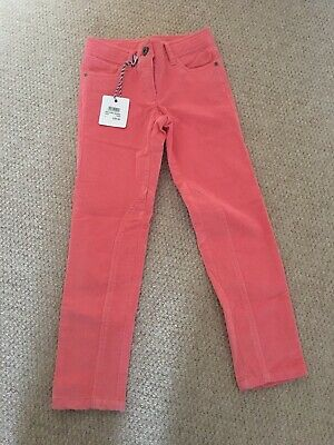 Crew Clothing Junior Girls Peach Orla Cord Trousers Jeans Age 5-6. BNWT.