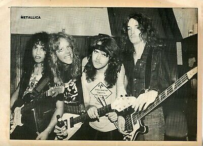 Metallica Clipping Cutting From A Magazine 80'S Young Backstage Cliff Burton