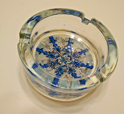 Camel Signature Blends Frost Ashtray Snowflake Heavy Glass Never Used with Box