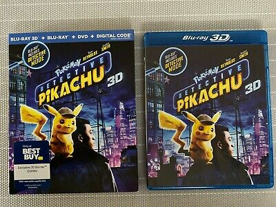 Detective Pikachu 3D/2D/Blu-ray/DVD+Digital Best Buy Combo with Slipcover
