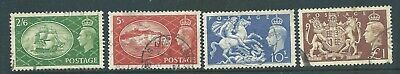 King George VI Stamps SG509-512 Set of 4 as per scan r4093c