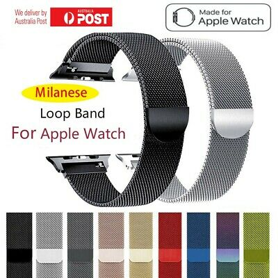 Apple Watch Series 5 4 3 2 1 Milanese Magnetic Stainless Steel Strap iWatch Band