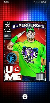Topps WWE Slam Digital Card Superheroes John Cena Award card 2019