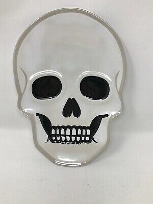 Halloween Home Decor Plates Skull Halloween Plate Melamine Brand New