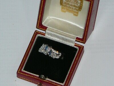 Vintage Art Deco Style 14ct White Gold Ring