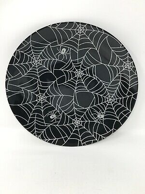 Halloween Home Decor Plates Spider Spiderwebs Plate Melamine Brand New