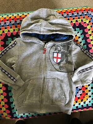 Toddler Boys England Hoodie Age 2-3 Years VGC