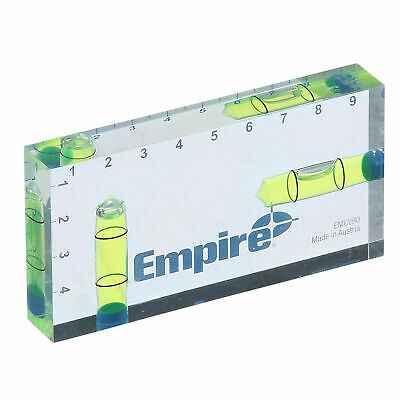 Empire CLEAR VIEW POCKET LEVEL 90mm Ideal For Small Spaces, Centimeter Markings