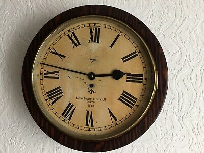 vintage Smiths Enfield  Military Army Second World War 1943 Wall Clock.