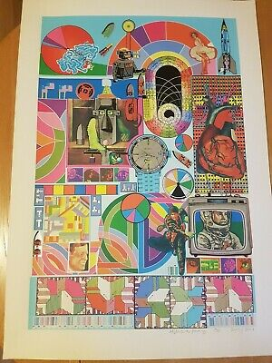 Paolozzi hand signed art print