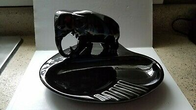 Vintage Elephant Young Republicans 1970 Large Ceramic Ashtray