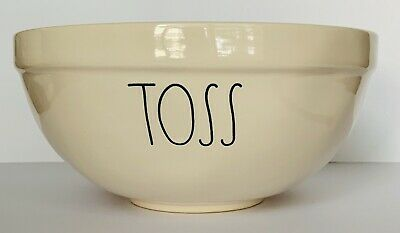 """Rae Dunn 'TOSS' Large 10"""" Ceramic Serving Mixing Bowl LL Farmhouse by Magenta."""