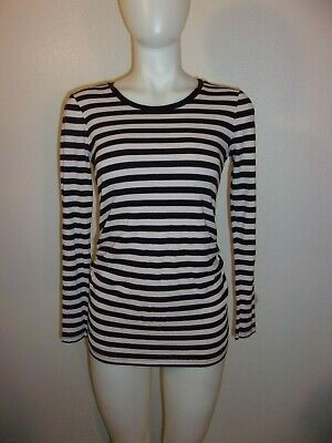 GAP Light Pink & Blue Striped Maternity Top SIZE S