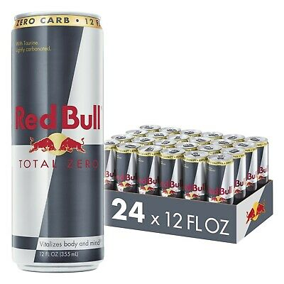 Red Bull Energy Drink, Total Zero, 12 Fl Oz, Pack of 24, NEW, FREE SHIPPING