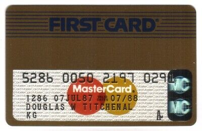 First Card Gold MasterCard (FCC National Bank) Credit Card Exp 07/88
