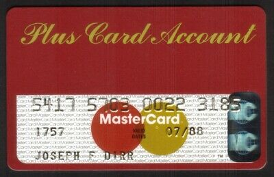 Plus Card Account: Citgo / Associates Natl Bank MasterCard Credit Card Exp 07/88