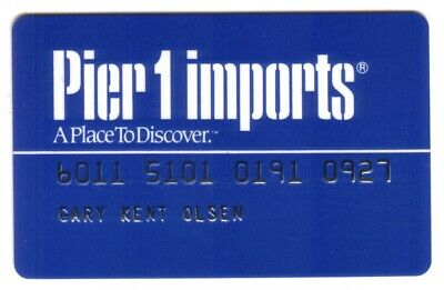 Pier 1 Imports Stores Regular Size (Blue) Merchant Credit Card