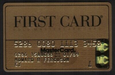 First Card Gold MasterCard (FCC National Bank) Credit Card Exp 01/89