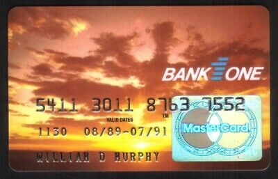 Bank One (Banc One Corporation) MasterCard Credit Card Exp 07/91