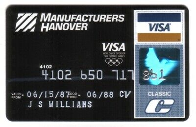 Manufacturers Hanover 1988 Olympic Games Classic VISA Credit Card Exp 06/88