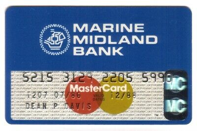 Marine Midland Bank MasterCard Credit Card Exp 12/88