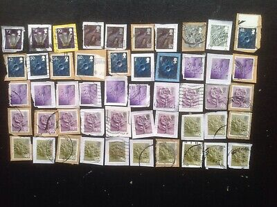 GB STAMPS 50 Different With High Value  Country Machin Definitives Used On Paper