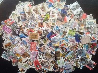 250 Grams GB Commemorative Stamps OFF PAPER Kiloware Lovely Selection