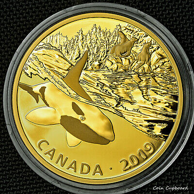 2019 - Canada $30 - Orca, 1st issue in Golden Reflections Series, 2oz silver