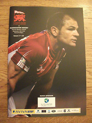 London Welsh v Gloucester - Rugby Programme Played Sept 30th 2012