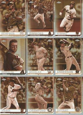 2019 Topps Chrome Sepia Retail Refractors ***You Pick***