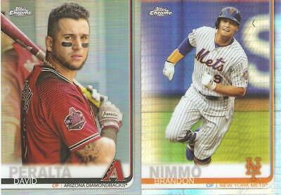2019 Topps Chrome Regular & Prism Refractor Parallels ***You Pick***
