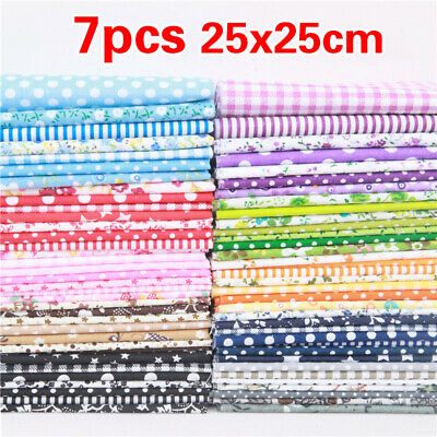 7PCS 9Colors 25x25cm Bundle Patchwork handmade DIY Cotton Fabric Sewing Crafts