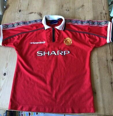 Vintage Manchester United 1998-99 Home Shirt Youths 12/13 Years Umbro Sharp Rare