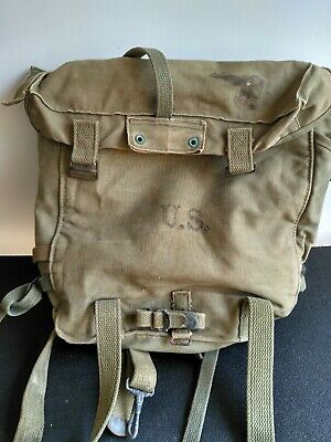 WWII  US Army M1944 Upper Combat Field Pack w/Set of M1944 Suspenders