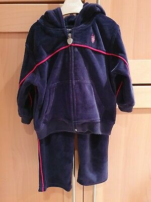 Baby Boy Navy Tracksuit size 12-18 months Top Hoody Long Pants Trousers Set VGC