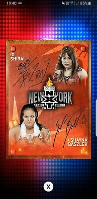 Topps WWE Slam Digital Card 333cc Io Shirai Shyna baszler nxt signature 2019